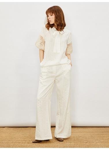 Vekem-Limited Edition Pantolon Beyaz
